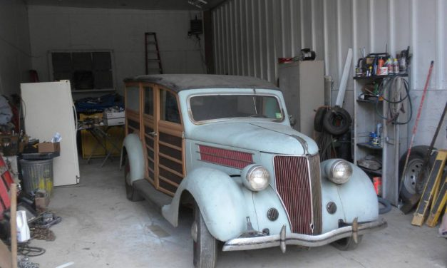 Stored 30 Years: 1936 Ford Model 68 Woody Station Wagon – SOLD!