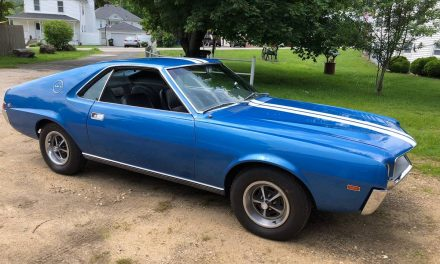 GO Pack 4-Speed: 1969 AMC AMX 56K Mile Survivor – SOLD!