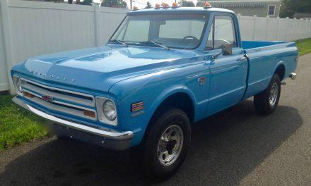 Baby Blue:  1968 Chevrolet K20 Pickup – Sold!