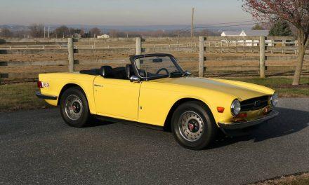Complete Color Change:  1972 Triumph TR6 – SOLD!