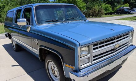 Stored Square Body: 1986 Chevrolet C10 Suburban Scottsdale – SOLD!