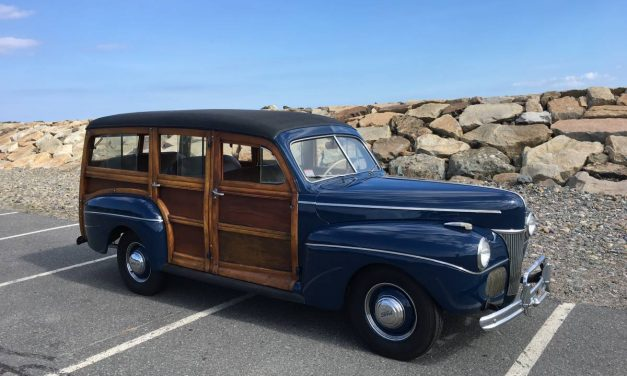 Blue Blood: 1941 Ford Super Deluxe Woody Wagon – $49,990