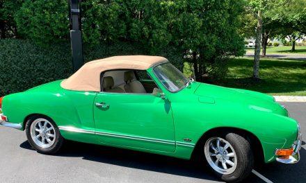 Go Green: 1971 Volkswagen Karmann Ghia Convertible EV – SOLD!