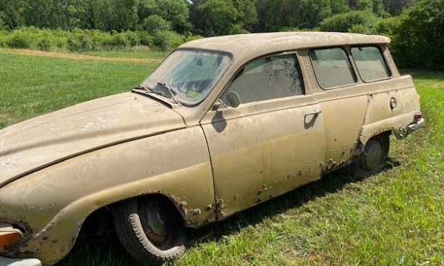 Turned When Parked: 1969 Saab 95 Station Wagon – NOW $250