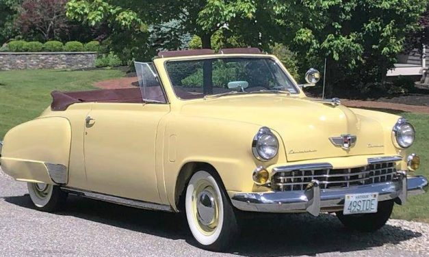 Only Going: 1949 Studebaker Champion Regal Deluxe Convertible – $24,900