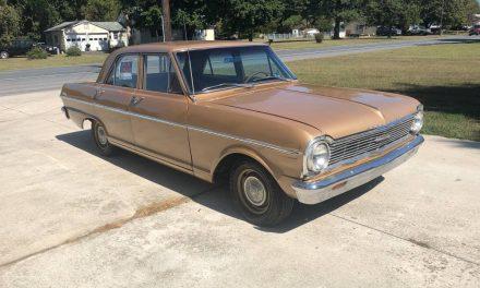 Solid Gold: 1965 Chevrolet Nova 41K Mile Sedan – SOLD!