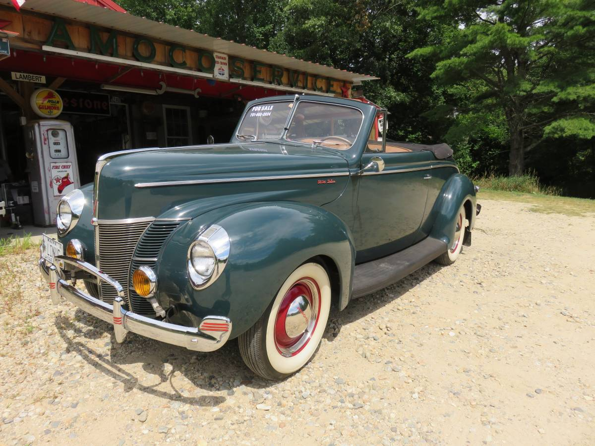 Como Blue 1940 Ford Deluxe Convertible Coupe Still 44 500 Guyswithrides Com