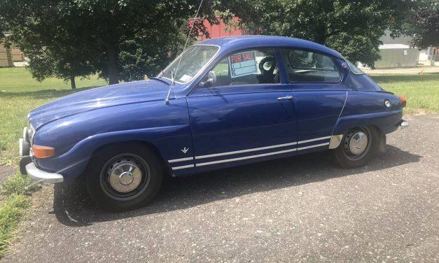 Freewheeler: 1972 Saab 96 V4 13K Mile Survivor – $11,500