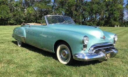 Postwar Flagship: 1949 Oldsmobile Futuramic 98 Convertible – Sold!