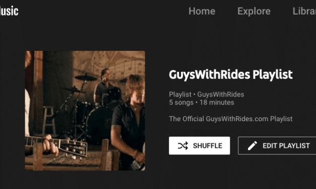 GuysWithRides YouTube Song Playlist
