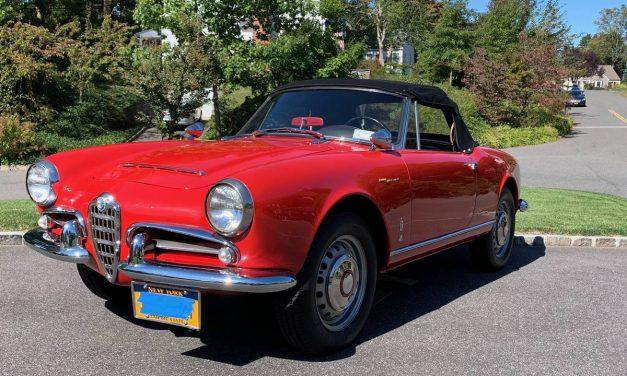 Classic Italian: 1965 Alfa Romeo Giulia Spider Normale – $49,500