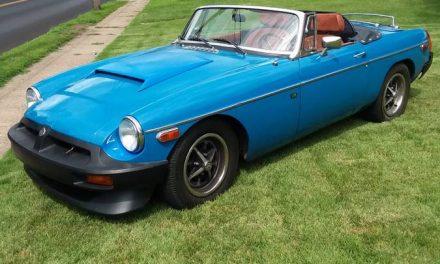 Rapid Rubber Bumper: 1977 MG MGB V8 5-Speed – $10,000