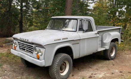 Solid Yet Rusty:  1964 Dodge D-Series W200 Utiline 4×4 – SOLD!