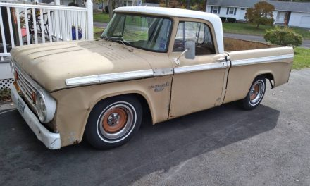 Slammed Sweptline: 1967 Dodge D100 Rat Rod – Sold?