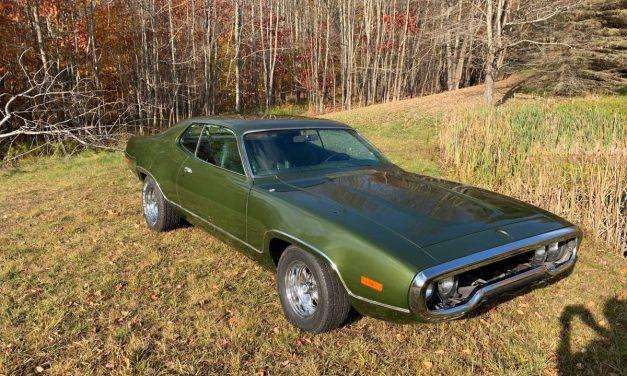 Four Months Gone: 1972 Plymouth Satellite Sebring – STILL $19,999