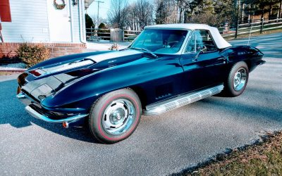 Blue Over Blue: 1967 Corvette Convertible – $48,500