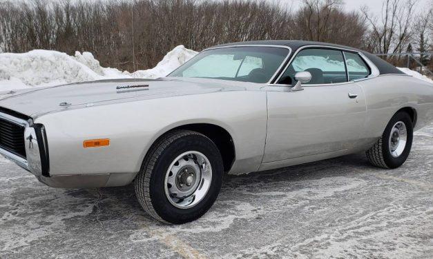 Hi-Ho Silver: 1973 Dodge Charger Rallye 340/4-speed – $28,000