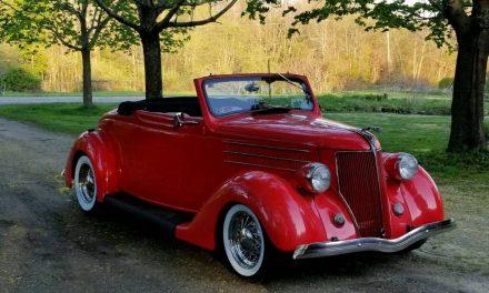 Red Restomod: 1936 Ford Model 68 Cabriolet – Sold?