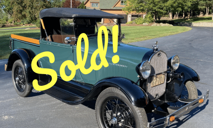 1929 Ford Model A Open Top Pickup – SOLD FOR $24,000!