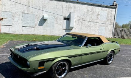 Green Gold: 1973 Ford Mustang Convertible – SOLD!