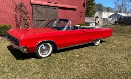 C Body One: 1968 Chrysler Newport Convertible – $14,500