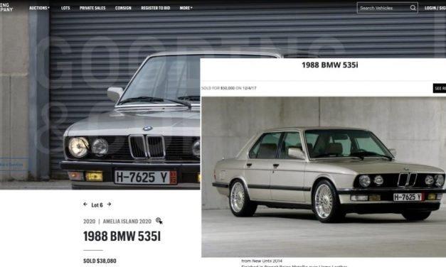 Fooled By Bring A Trailer: 1988 BMW 535i Two-Year $20K Depreciation