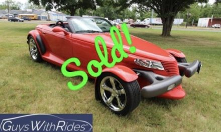 1999 Plymouth Prowler – SOLD FOR $26,000!