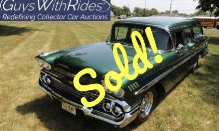 1958 Chevrolet Nomad – SOLD FOR $33,000!
