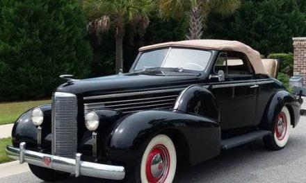 Companion Caddy: 1938 Cadillac LaSalle Model 50 Convertible Coupe – SOLD!