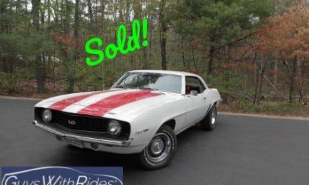 1969 Chevrolet Camaro SS350 Street Machine – Sold for $30,000!