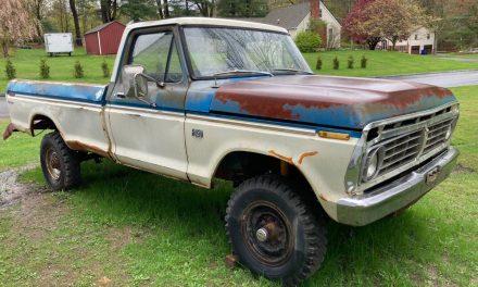 Hidden Highboy: 1975 Ford F250 4×4 – Sold?