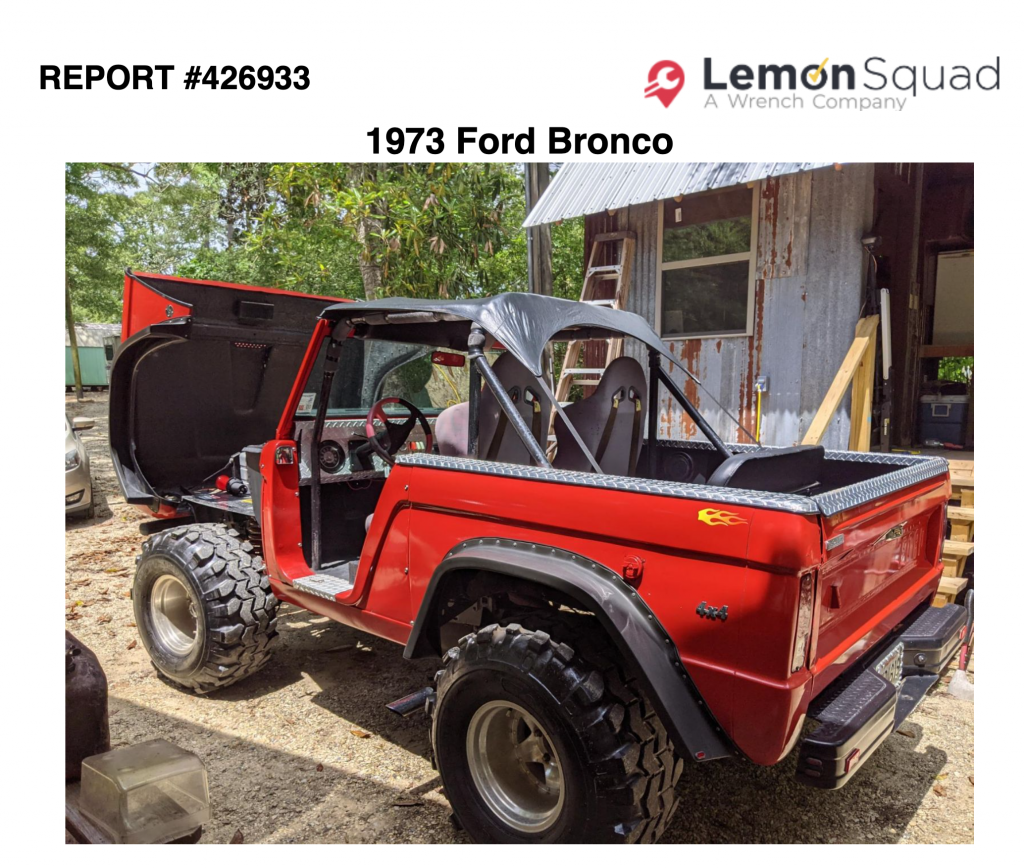 1973 Ford Bronco Pre-Purchase Inspection (PPI) Link