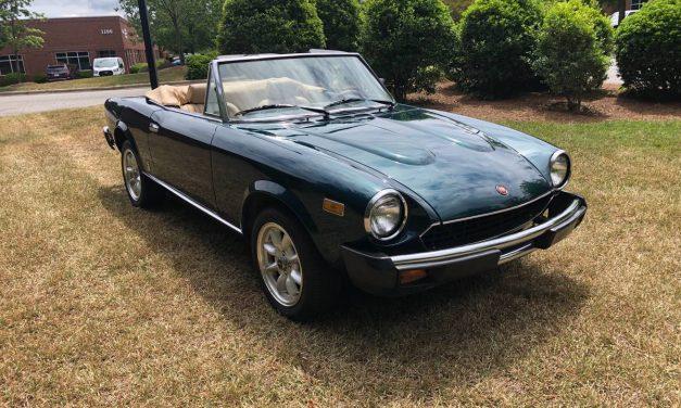 Lightly Restored: 1980 Fiat Spider 2000 – $17,500