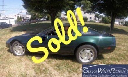 NO RESERVE: 1995 Chevrolet Corvette – SOLD FOR $7,750!