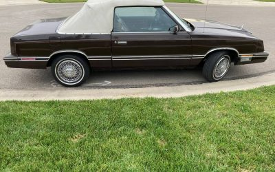 Luxurious Leather: 1983 Chrysler LeBaron Mark Cross Edition Convertible – $5,000