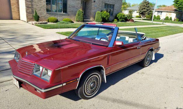 Broken Backlight: 1985 Dodge 600 Convertible – $3,000