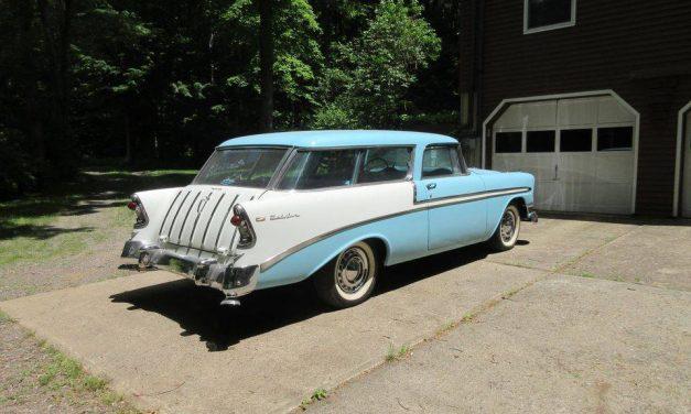 Fresh Frame-Off: 1956 Chevrolet Bel Air Nomad – $59,000