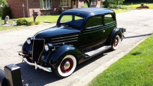 "Hot Rod: 1936 Ford Model 68 Tudor ""Slant Back"""