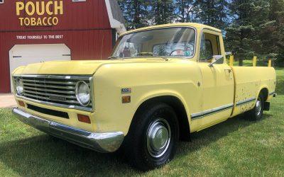 Sunburst Survivor: 1974 International Harvester 100D Pickup – $8,900