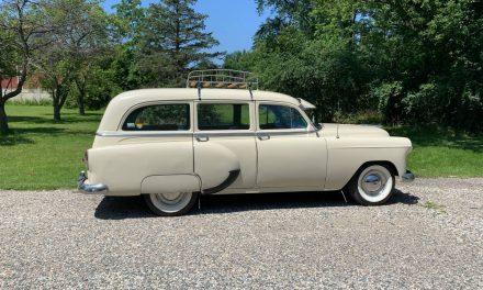 Basic Beige: 1953 Chevrolet 150 Handyman Wagon – $13,800