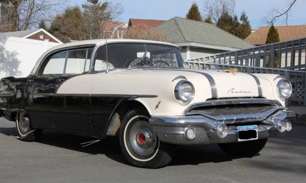 Strato Streak: 1956 Pontiac Chieftain Four Door Hardtop – $24,995