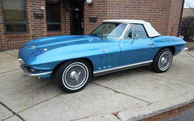 Birthday Blue: 1966 Corvette Convertible – $37,000