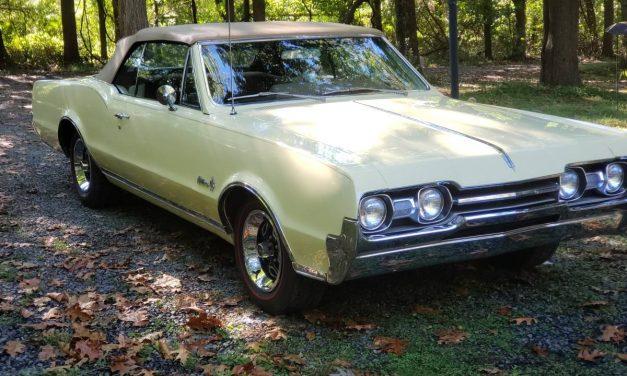 Cream Cutie: 1967 Oldsmobile Cutlass Supreme Convertible – $26,900