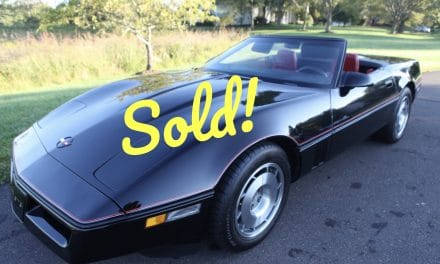 1987 Corvette Convertible – SOLD AT $14,000!